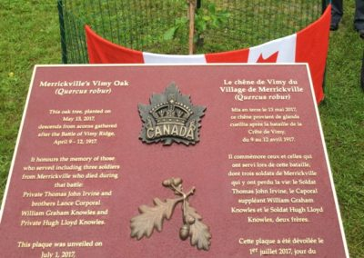Planting the Vimy Oak